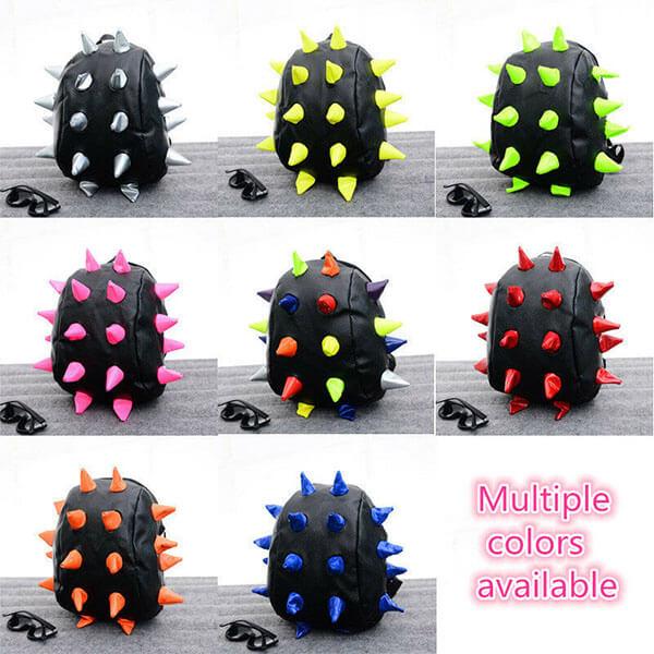 Multicolor PU Spike Shell Backpack