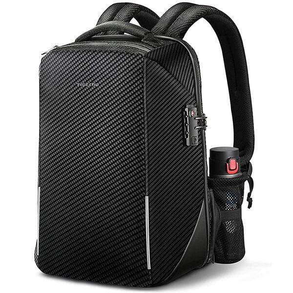 RFID Protected 800D Nylon Backpack with USB Port