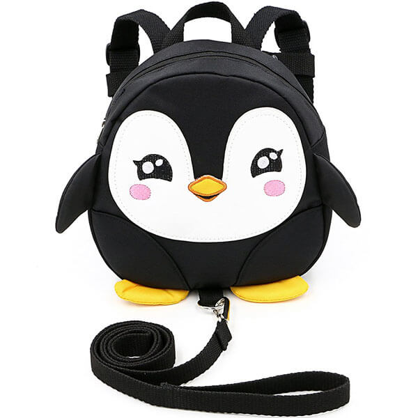 Toddlers Penguin Backpack with Safety Leash