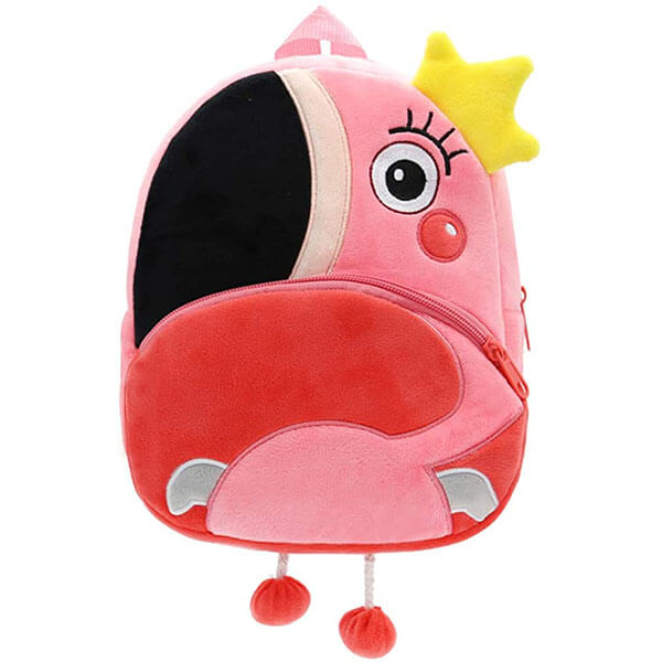 3D One Eye with Lashes Flamingo Backpack