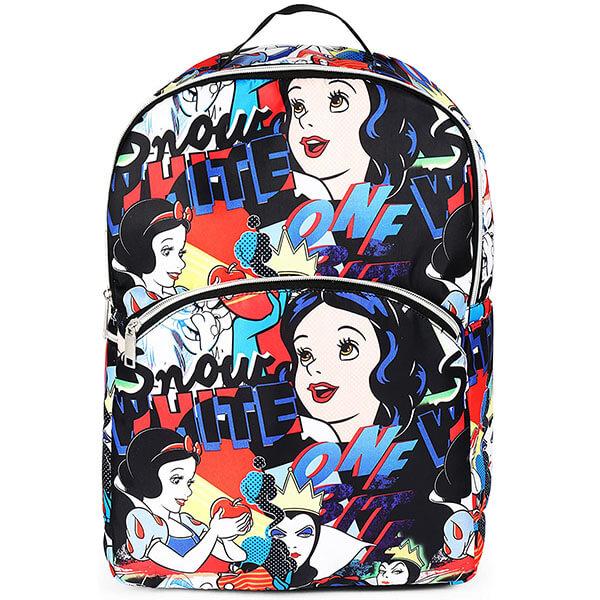 Black Nylon Snow White Backpack for Girls