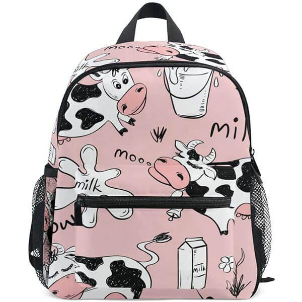 Cow Milk Print Backpack