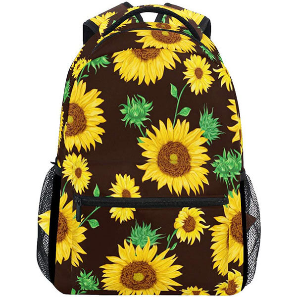 Green Leaves with Sunflowers Customized Backpack