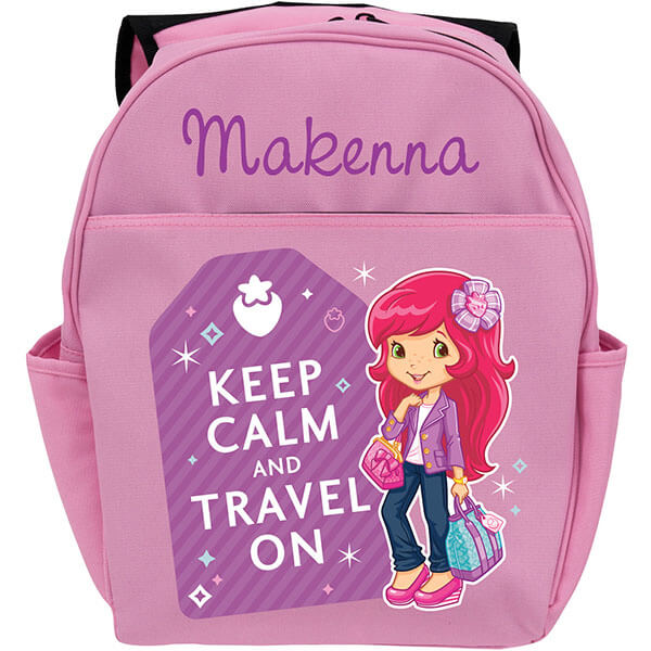 Keep Calm Personalized Strawberry Backpack
