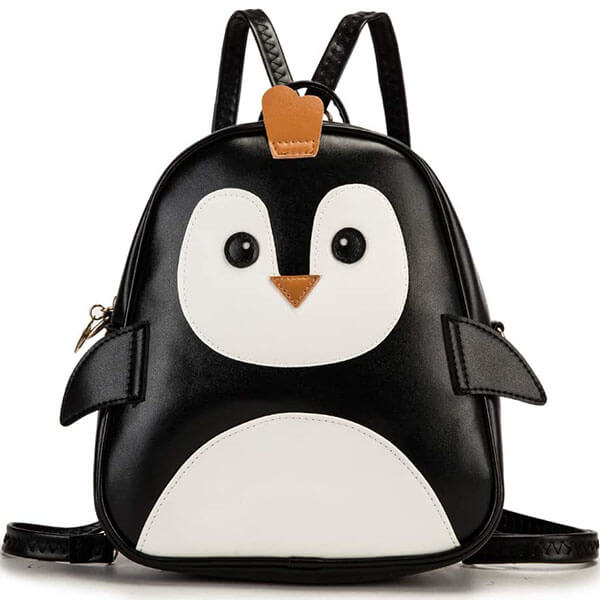 PU Leather Penguin Backpack