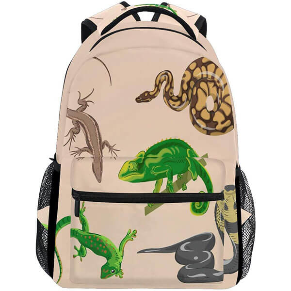Snake Lizard Cool School Backpack