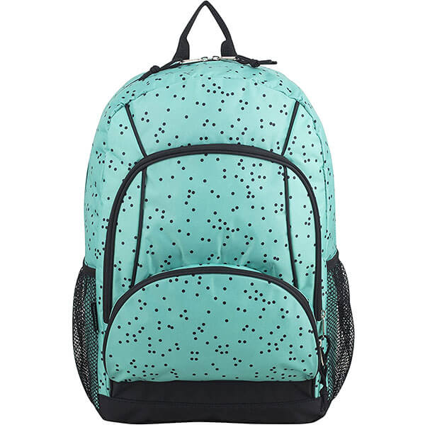 Spacious Turquoise School Backpack
