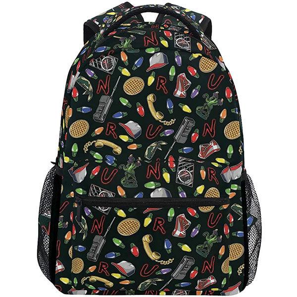 Black Color Stranger Things Backpacks