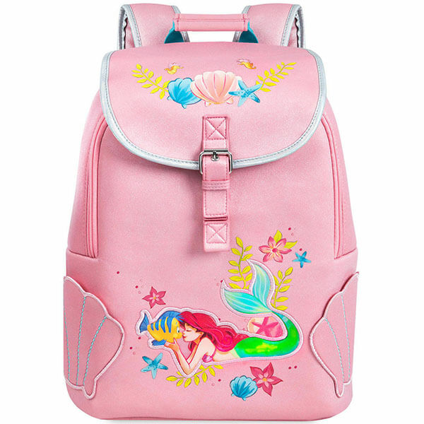 Customized Mermaid Backpack with Shell Lunch Bag