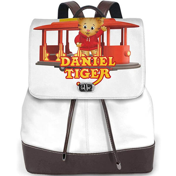 Daniel Tiger in a Streetcar Print Backpack