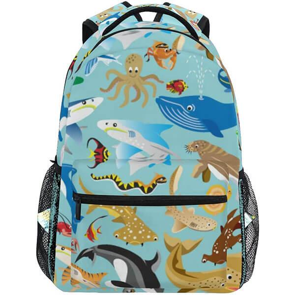 Twill Weave Aqua Backpack