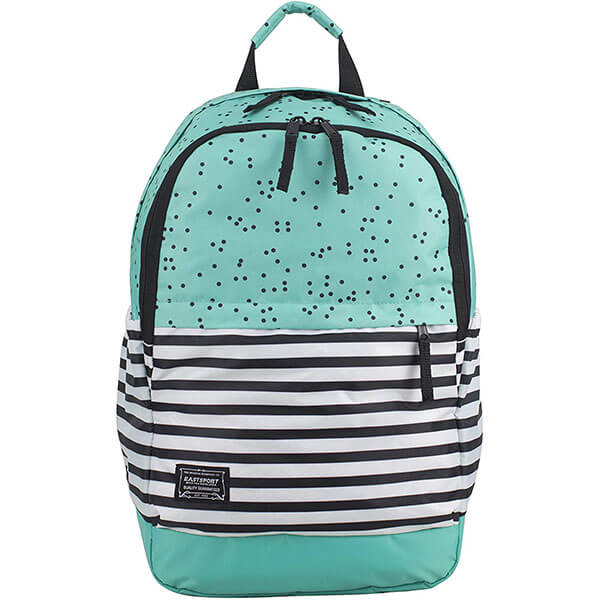 Water-Resistant Turquoise Large School Backpack