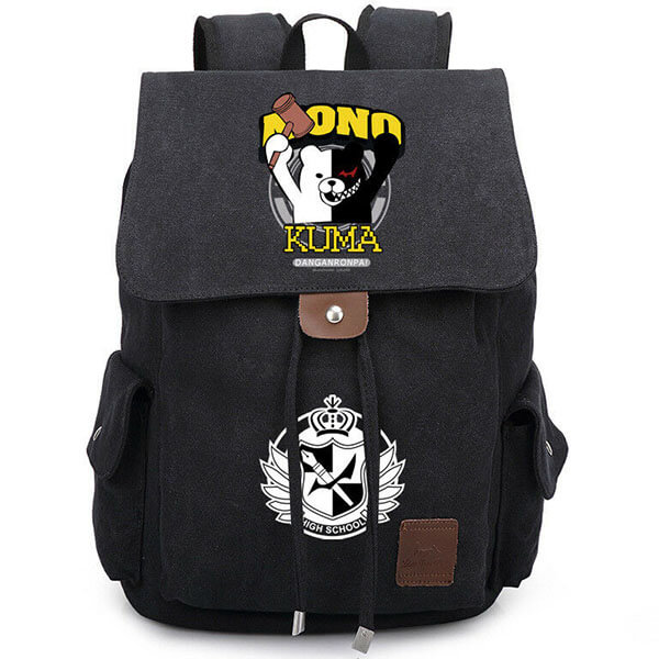 Danganronpa Bear Canvas Shoulder Backpack
