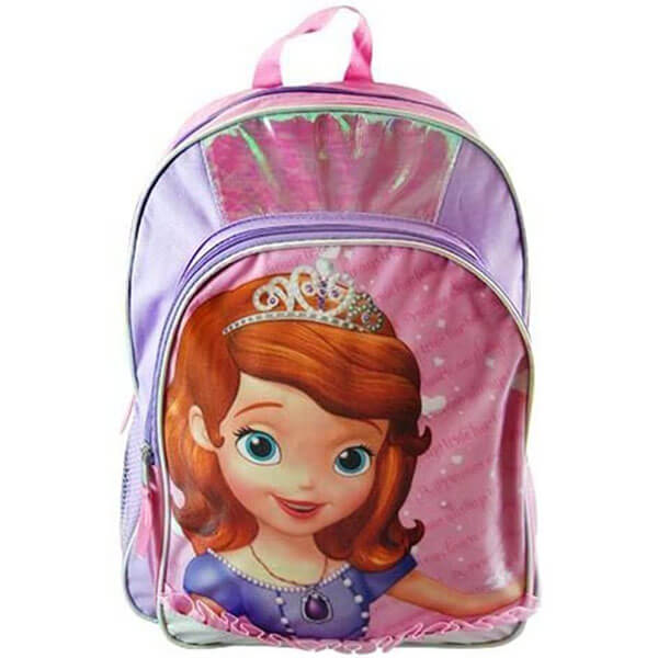 Multi-colored Sofia the First Large Backpack