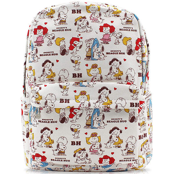 Snoopy White Canvas Casual Daypack