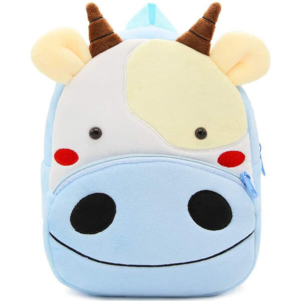 Soft Plush Cow Face with Ear Backpack