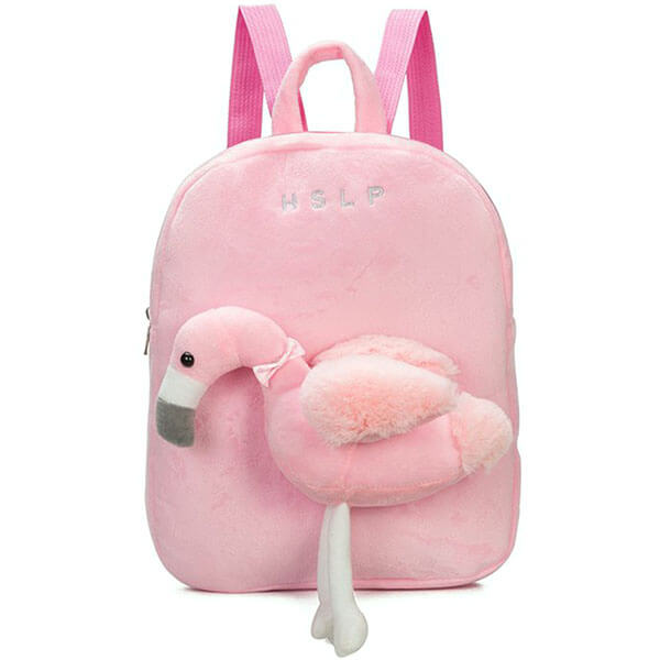 3D Plush Cartoon Flamingo Toddlers Backpack