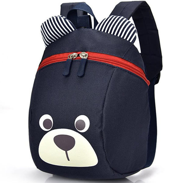 Adorable Small Bear Backpack with Leash