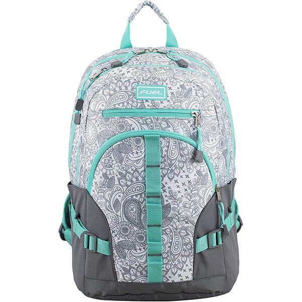 Adults Fuel Turquoise Trim Multi-Pocket Backpack