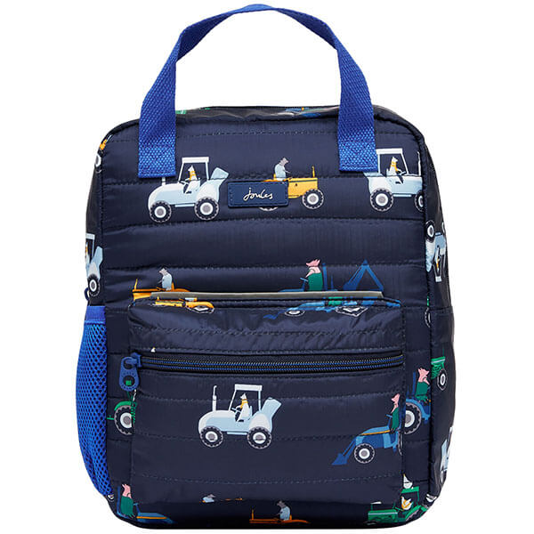 Allover Tractor Printed Backpack for Boys