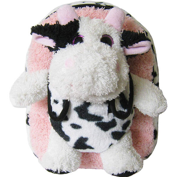Cow Stuffed Animal Backpack with Shiny Eyes