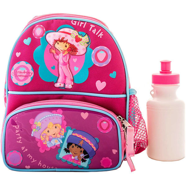 Girls Talk Berry Backpack with Water bottle