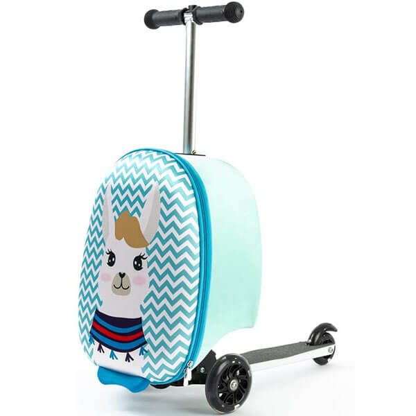 Llama Print Scooter Suitcase Backpack
