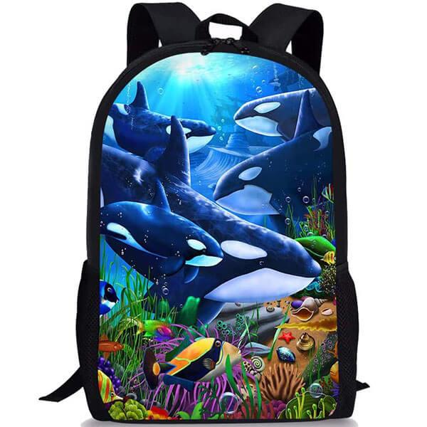 Marine Life Themed Laptop Backpack