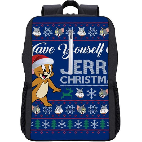 Tom and Jerry Laptop Bag with USB Charging Port