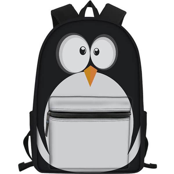 Waterproof 3D Canvas Penguin Backpack