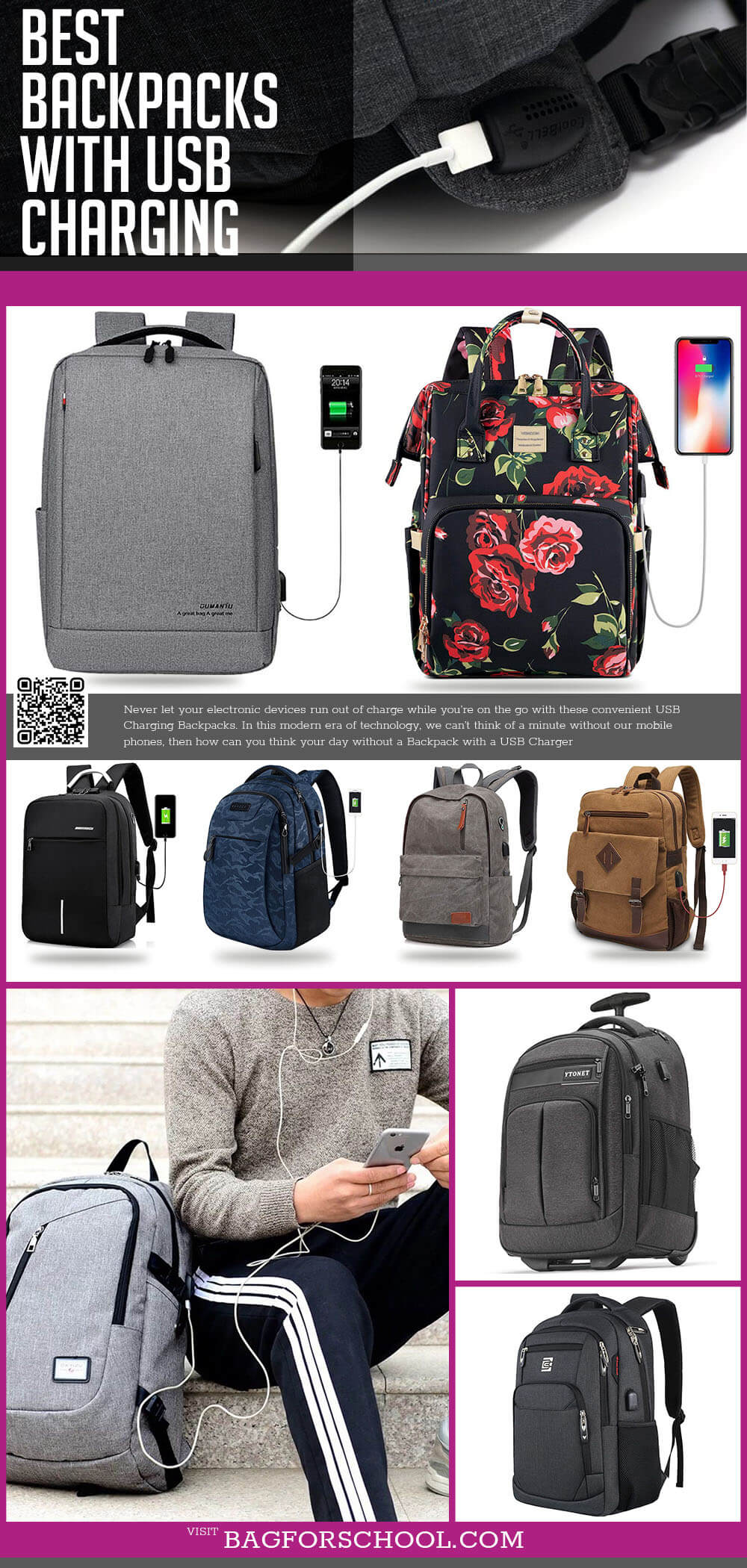 Backpacks With USB Charging