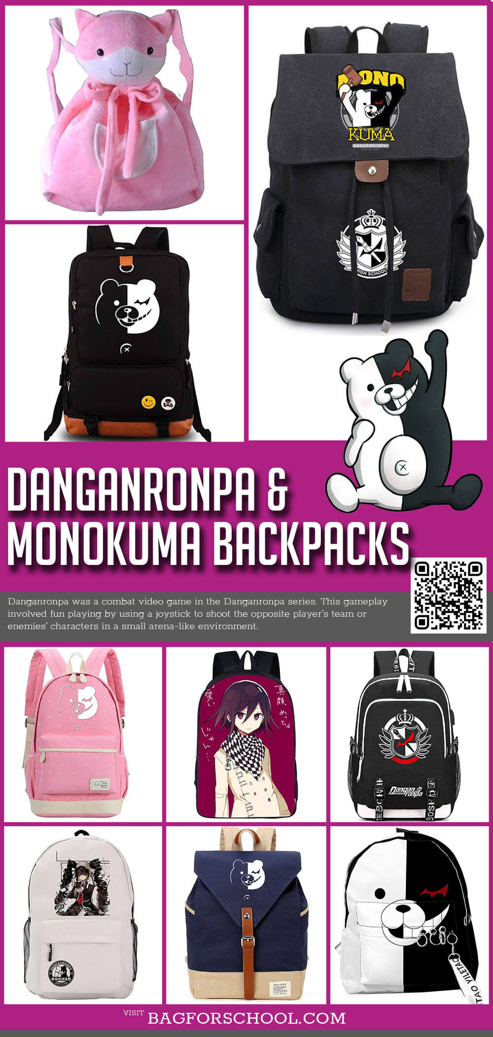 Danganronpa Monokuma Backpacks