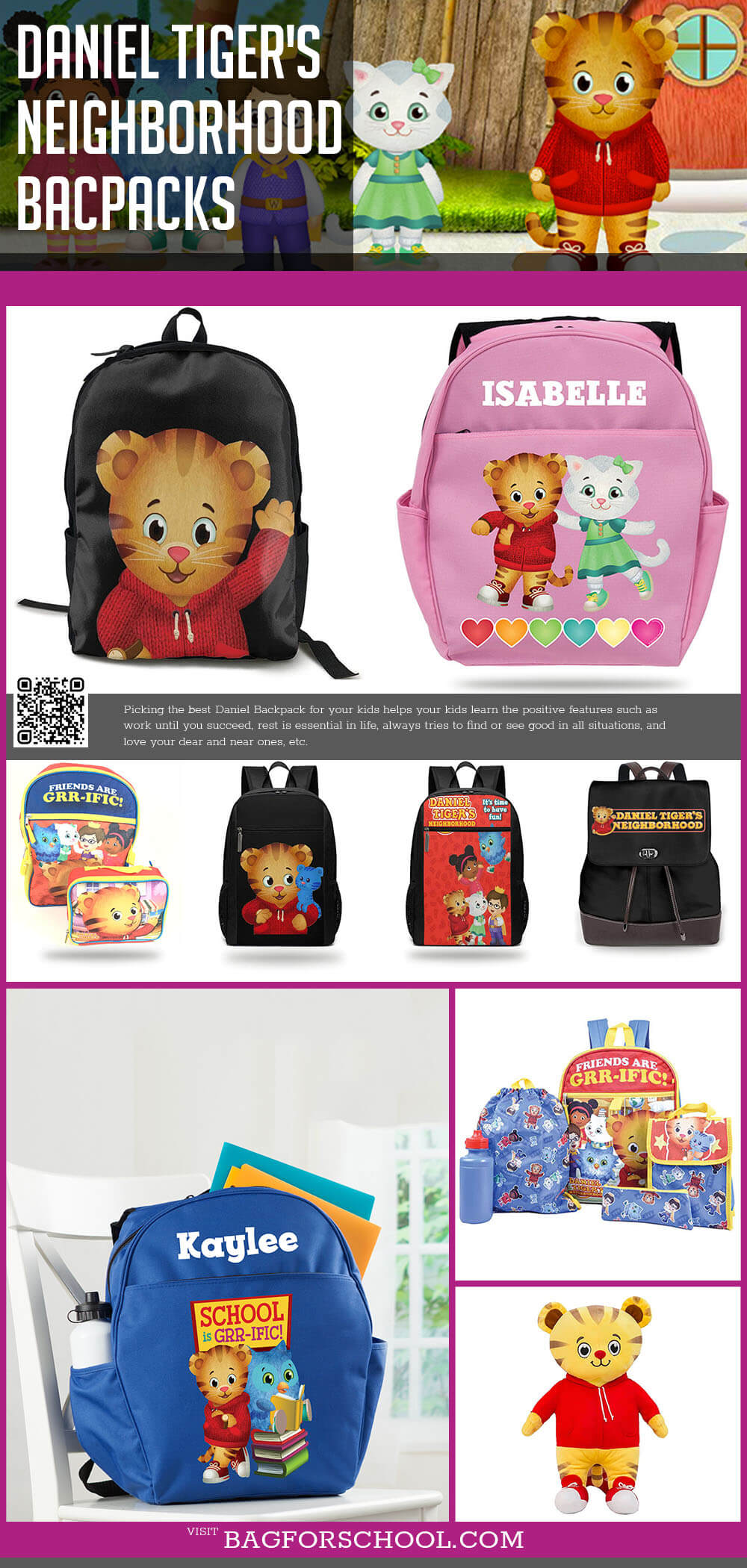 Daniel Tiger's Neighborhood Backpacks