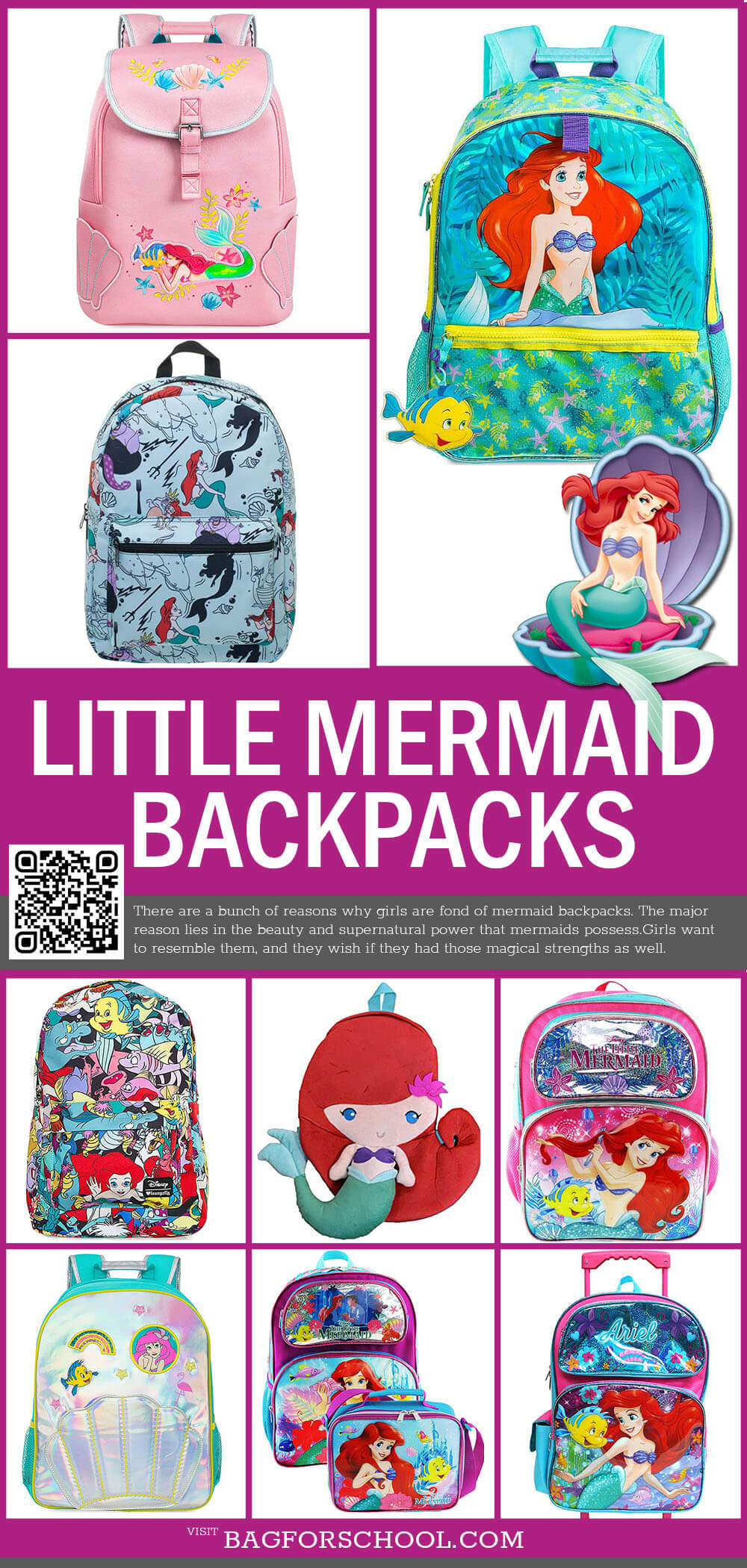 Little Mermaid Backpacks