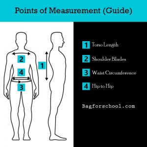 Points of Measurement school backpack