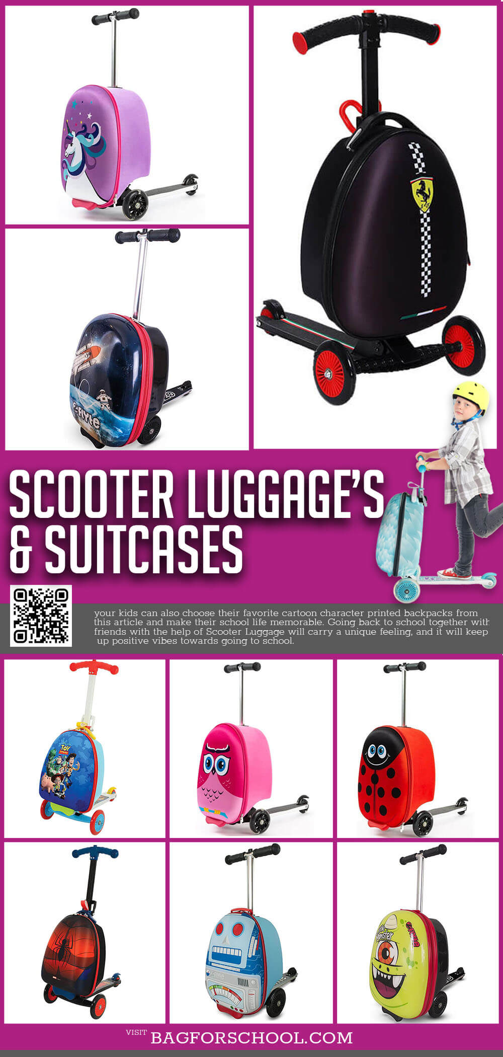 Scooter Luggages And Scooter Suitcases
