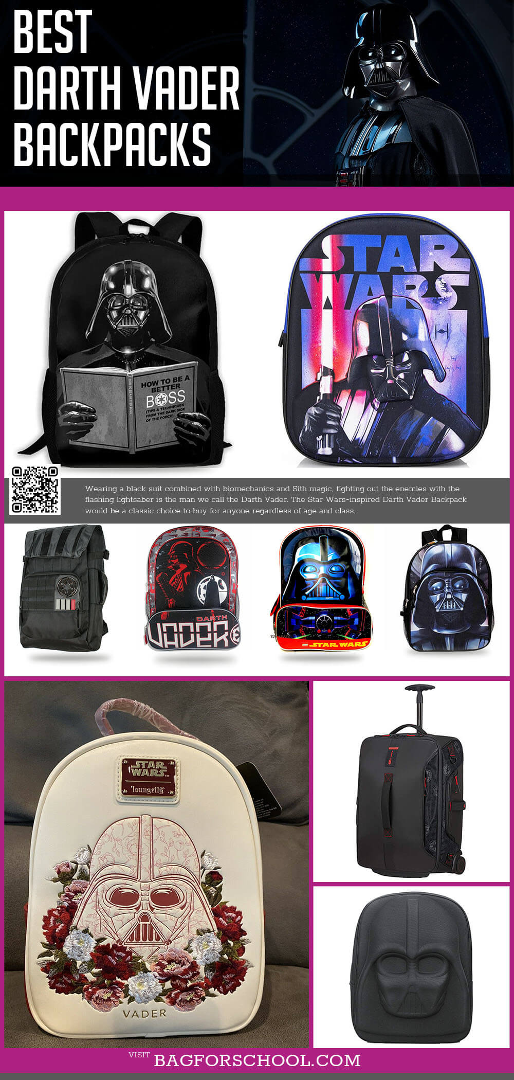 Star Wars Darth Vader Backpacks