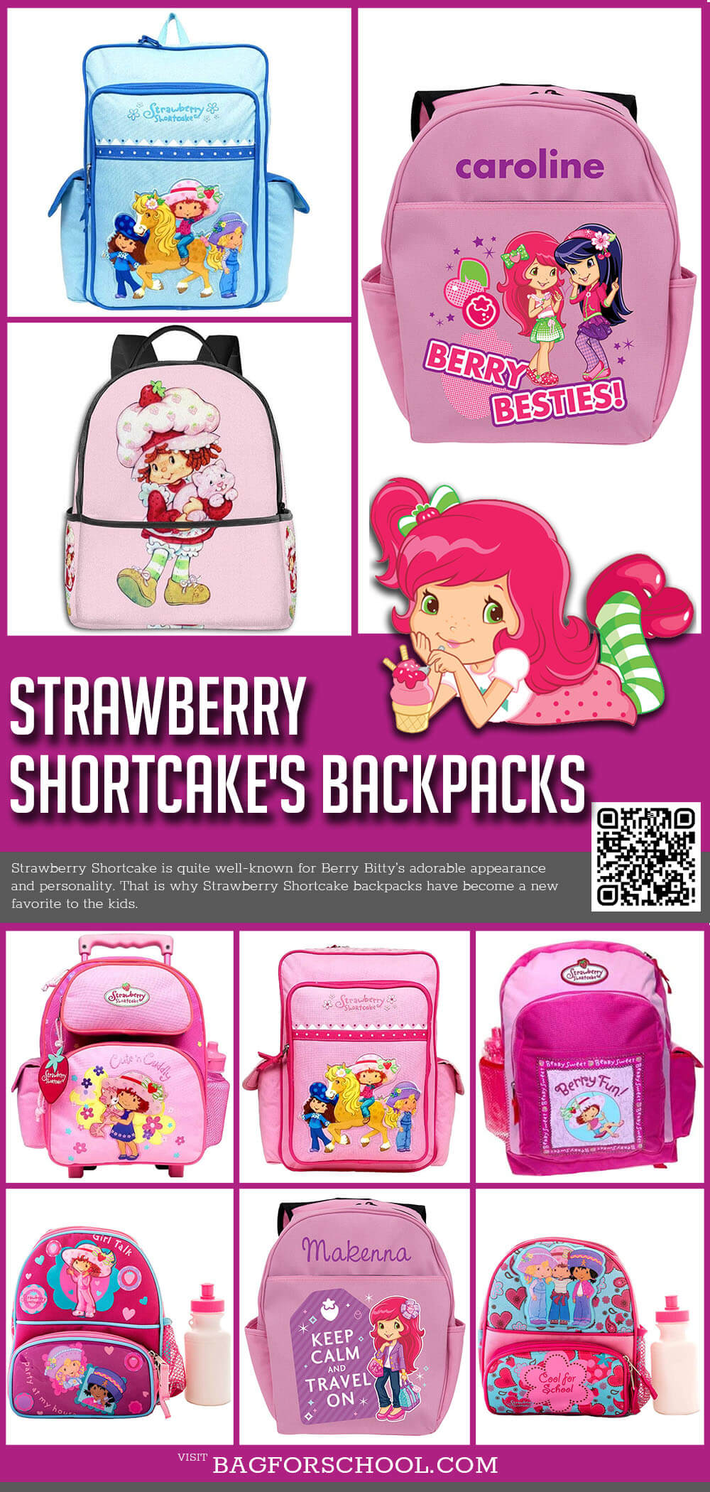 Strawberry Shortcakes Backpacks