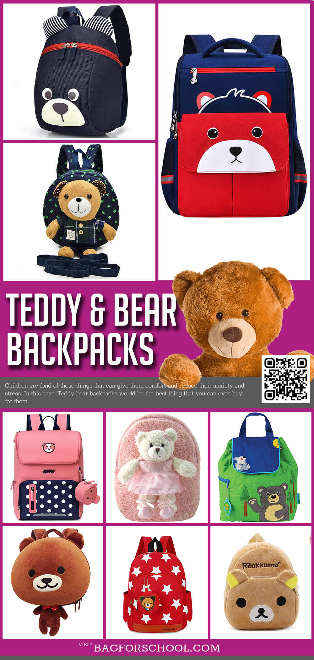 Teddy Bear Backpacks