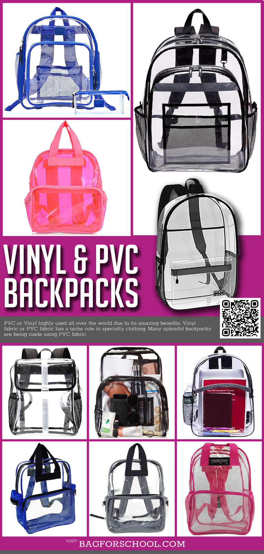 Vinyl PVC Backpacks