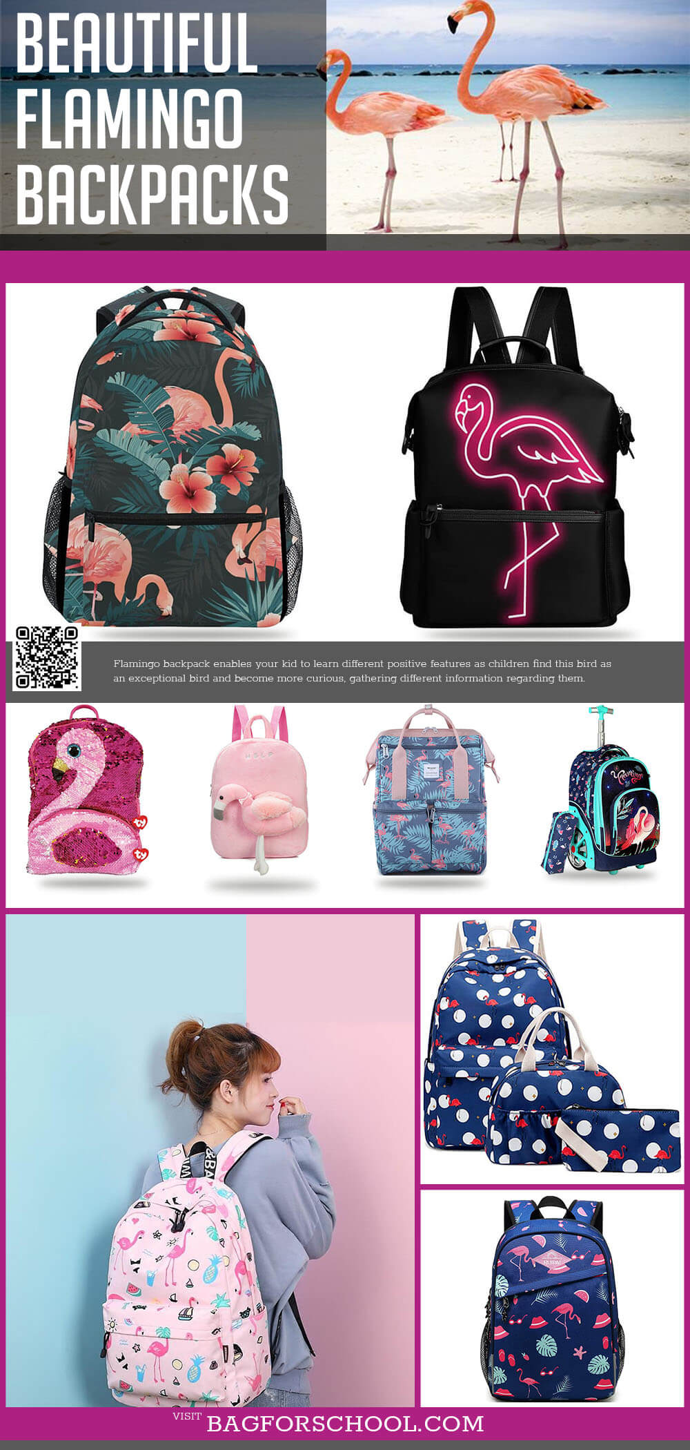 flamingo backpacks