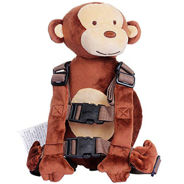 Monkey Toddler Backpack with Safety Leash