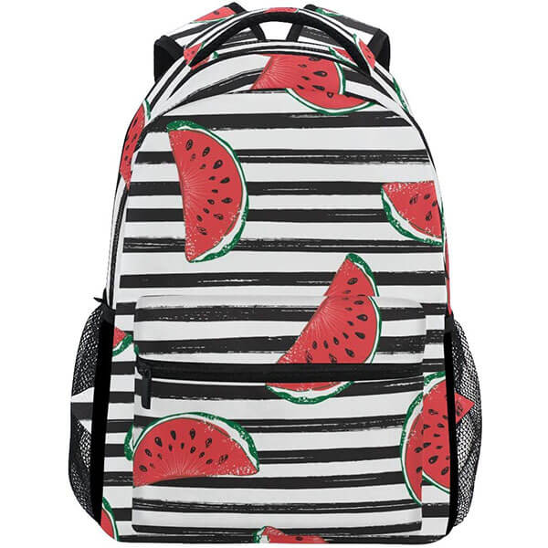 Black Striped Watermelon Backpack