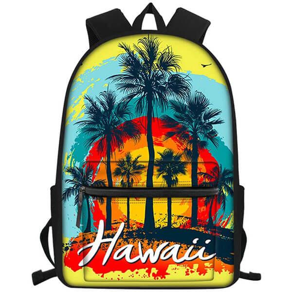 Coconut Tree Print Hawaiian Backpack