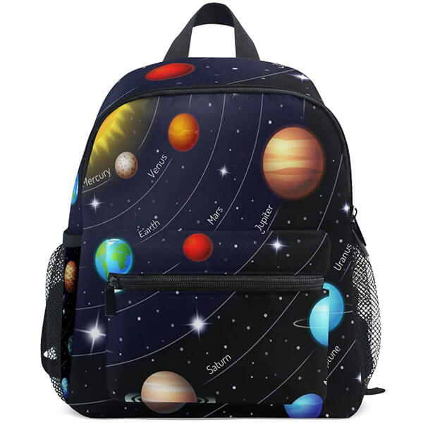 Galaxy Themed Twill Weave Solar System Backpack