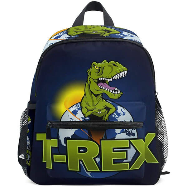 Kid's Dinosaur the Planet Twill Weave Backpack