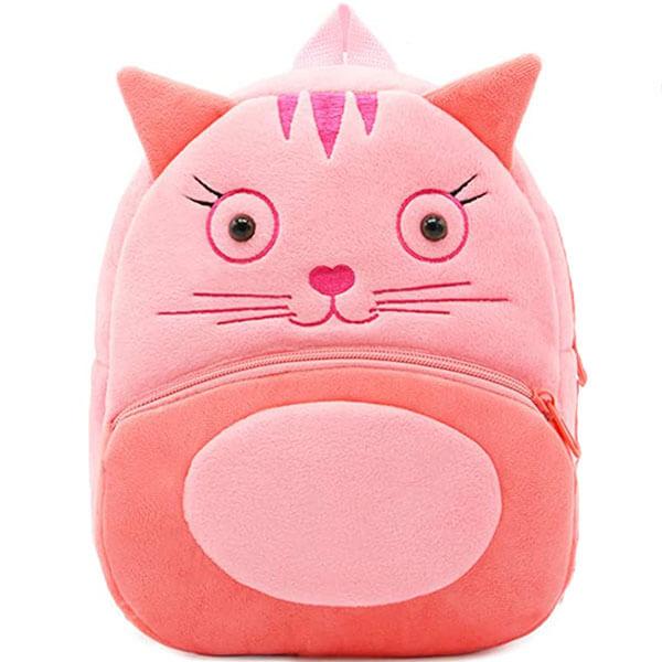 Kitten Plush Backpack for School