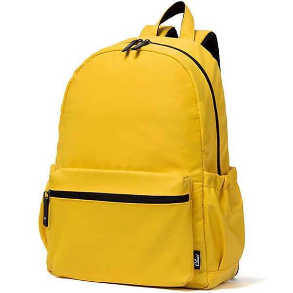 Nylon Waterproof Yellow Backpack