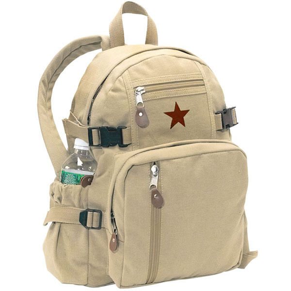 Star Compact School Canvas Cotton Backpack