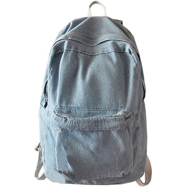 Denim Style Simple Backpack for Girls
